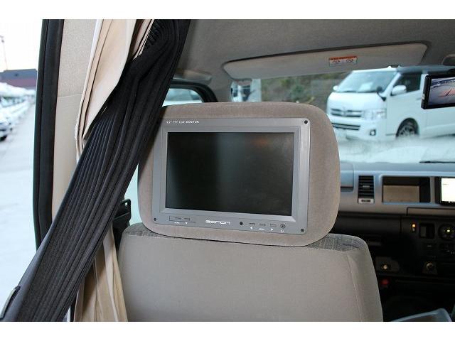 AtoZ アメリア サブバッテリー シンク カセットコンロ ポータブル冷蔵庫 走行充電 外部充電 社外HDDナビ ミラーモニター ETC 助手席ヘッドレストモニター サテライトスピーカー(61枚目)