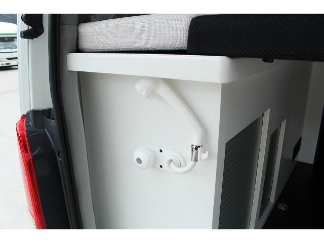 ナッツRV リーク ワンオーナー 寒冷地仕様 リフトアップ ツインサブ FFヒーター 1500Wインバーター シンク カセットコンロ エンゲル冷蔵庫 走行充電 外部充電 外部電源 社外ナビ フルセグ バックカメラ(27枚目)