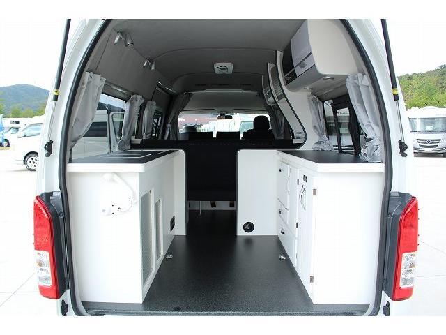 ナッツRV リーク ワンオーナー 寒冷地仕様 リフトアップ ツインサブ FFヒーター 1500Wインバーター シンク カセットコンロ エンゲル冷蔵庫 走行充電 外部充電 外部電源 社外ナビ フルセグ バックカメラ(39枚目)