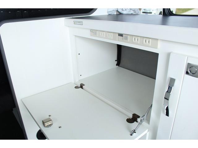 ナッツRV リーク ワンオーナー 寒冷地仕様 リフトアップ ツインサブ FFヒーター 1500Wインバーター シンク カセットコンロ エンゲル冷蔵庫 走行充電 外部充電 外部電源 社外ナビ フルセグ バックカメラ(42枚目)