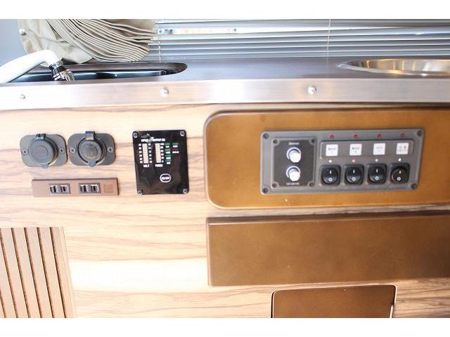 ケイワークス オーロラスタークルーズ クラシックバン ワンオーナー ポップアップルーフ ツインサブ FFヒーター 1500Wインバーター フレキシブルソーラーパネル シンク カセットコンロ 走行充電 外部充電 外部電源 アルパインBIG-X ETC(66枚目)