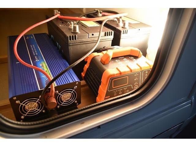 AtoZ アミティ ツインサブ 1500Wインバーター 電子レンジ シンク カセットコンロ 冷蔵庫 マックスファン 架装部TV 走行充電 外部充電 外部電源 社外ナビ フルセグ バックカメラ ETC ドラレコ キーレス(64枚目)
