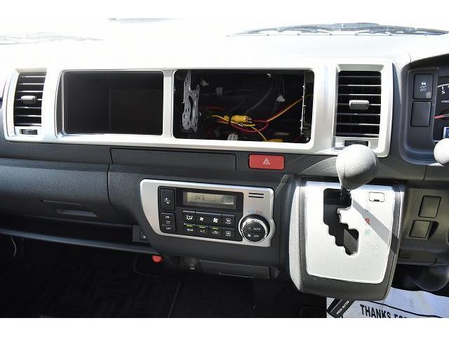 トヨタセーフティセンス キーレス パワースライドドア ステアリングスイッチ レザーシート加工 シンク 冷蔵庫 15インチフリップダウンモニター ナビ切替スイッチ 運転席・助手席コの字カーテン(16枚目)