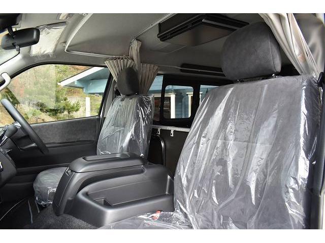 リノタクミ DS-Lスタイル トヨタセーフティセンス スマートキー パワースライドドア LEDヘッドライト シンク 冷蔵庫 レザーシート加工 15インチフリップダウンモニター ナビ切替スイッチ 運転席・助手席コの字カーテン(11枚目)