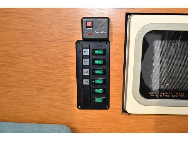 オリジナル キャンピング ツインサブ 1500Wインバーター 電子レンジ シンク 冷蔵庫 走行充電 外部充電 ガゼルアンテナ サイドオーニング 社外メモリーナビ バックカメラ ワンセグ ETC フリップダウンモニター HID(36枚目)