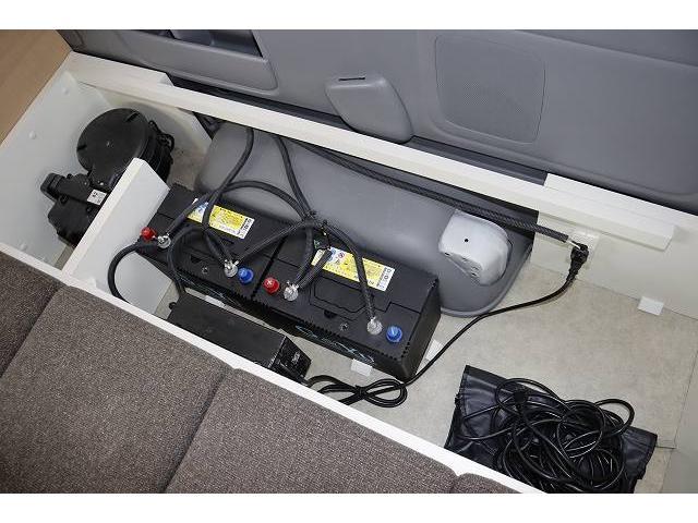 ワークVOX オリジナル ツインサブ シンク 500Wインバーター 走行充電 外部電源 網戸2枚 テーブル 社外HDDナビ フルセグ バックカメラ ETC HID パワースライドドア キーレス 乗車10人 就寝3人(43枚目)
