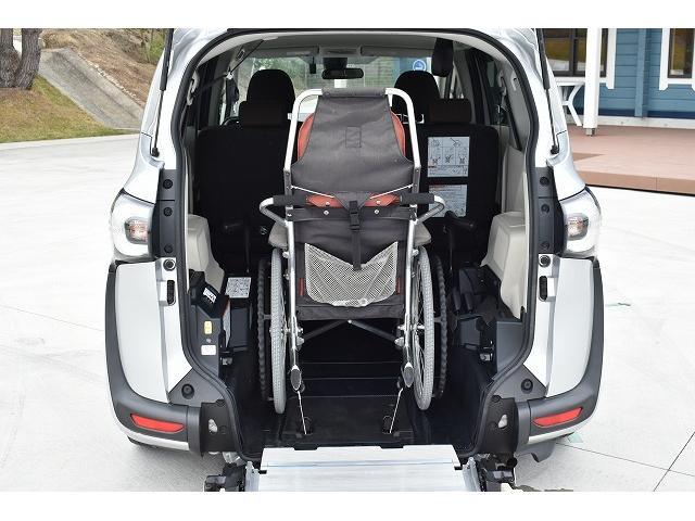 福祉車両 スロープ 車椅子1基 後退防止ベルト ニールダウン(4枚目)