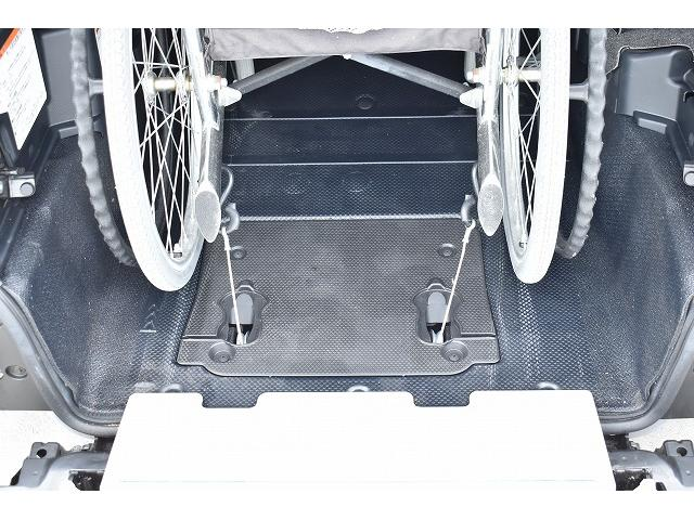 福祉車両 スロープ 車椅子1基 後退防止ベルト ニールダウン(5枚目)