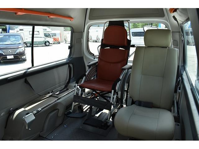 福祉車両 リアリフト 車椅子2基 電動固定装置 手すり(7枚目)