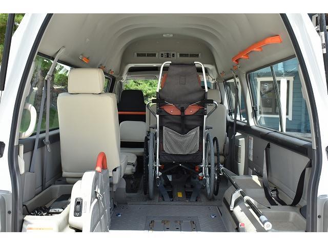 福祉車両 リアリフト 車椅子2基 電動固定装置 手すり(8枚目)