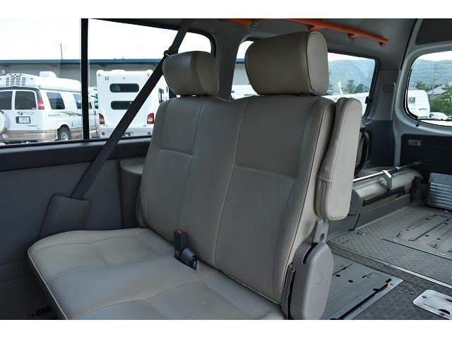 福祉車両 リアリフト 車椅子2基 電動固定装置 手すり(13枚目)