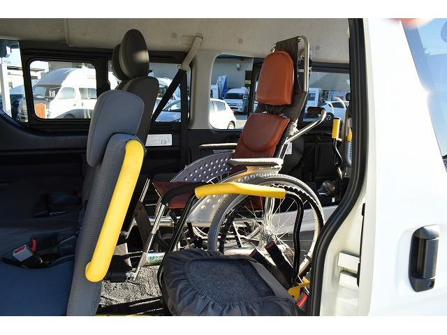福祉車両 ディーゼル リアリフト 車椅子2基 電動固定(10枚目)
