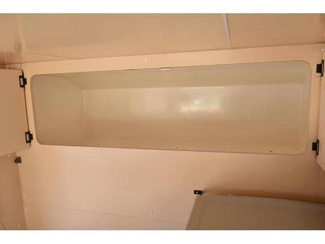 KCエアコン・パワステ 移動販売車 キッチンカー ケータリングカー 2槽シンク 給排水タンク 家庭用AC冷蔵庫 ルーフベント 外部電源  販売口1か所 12Lフライヤー アクリル窓 ラック 収納 作業台(14枚目)