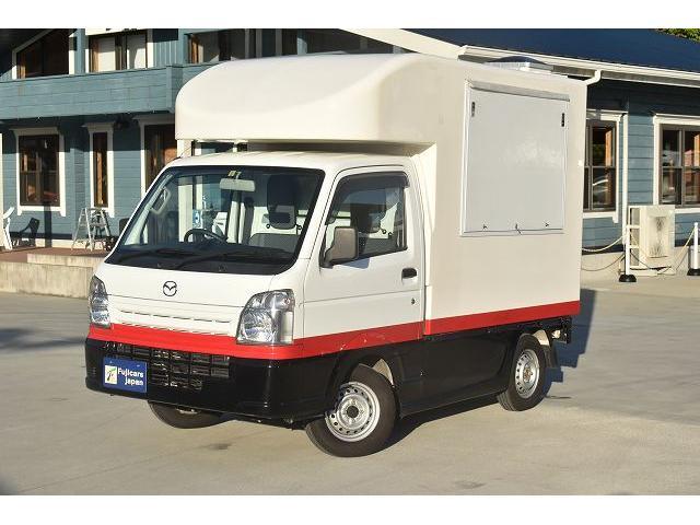 KCエアコン・パワステ 移動販売車 キッチンカー ケータリングカー 2槽シンク 給排水タンク 家庭用AC冷蔵庫 ルーフベント 外部電源  販売口1か所 12Lフライヤー アクリル窓 ラック 収納 作業台(64枚目)