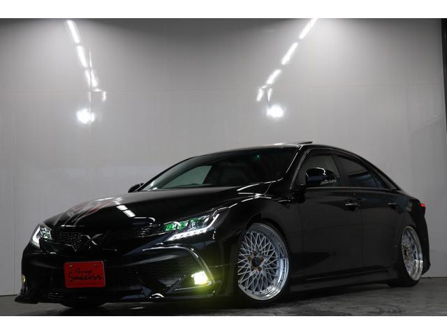 250G リラックスセレクション・ブラックリミテッド カスタムペイントボンネット/RDSバンパー/モデリスタエアロ/リアG's仕様/新品SSRフォーミュラメッシュ19AW/新品TEIN車高調/OP付きBRASHヘッドライト/OP付きスモークテール(7枚目)