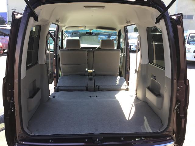 両方のシートをたたむとスペースが広がり大きなお荷物も収納する事ができます♪