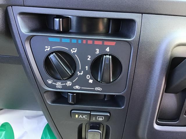 複雑な操作が要らず、暑い・寒いの感覚での簡単操作のマニュアルエアコンです