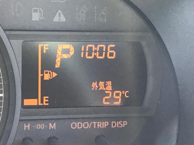 メーター内には、外気温計様々な情報が表示されます♪