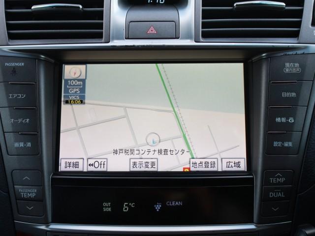 レクサス LS LS460 バージョンC 純正HDD SR 本革エアシート