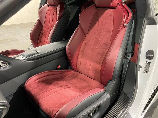 LC500 Sパッケージ 正規品TRDフルエアロKIT 正規品TRDトランクスポイラー オプション21AW CFRPカーボンルーフ カーボンインテリアパネル 電動リアウイング 赤黒コンビベンチレーターシート ビルトインETC(18枚目)