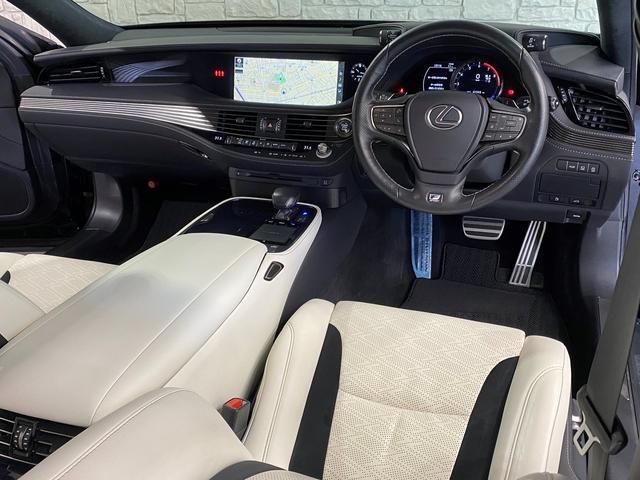 LS500 Fスポーツ レクサス新車保証継承可能 レクサスセーフティプラス 純正エンジンスターター 純正ドラレコ 本革シート 360度カメラ パワートランク AC100Vコンセント 3眼フルLEDヘッドライト ETC2.0(13枚目)
