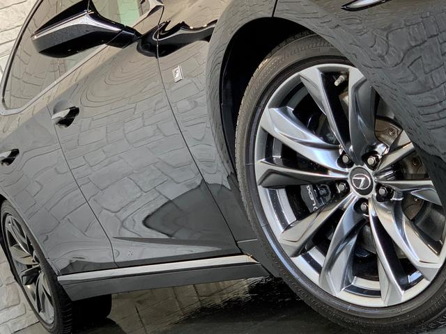 LS500 Fスポーツ レクサス新車保証継承可能 レクサスセーフティプラス 純正エンジンスターター 純正ドラレコ 本革シート 360度カメラ パワートランク AC100Vコンセント 3眼フルLEDヘッドライト ETC2.0(36枚目)