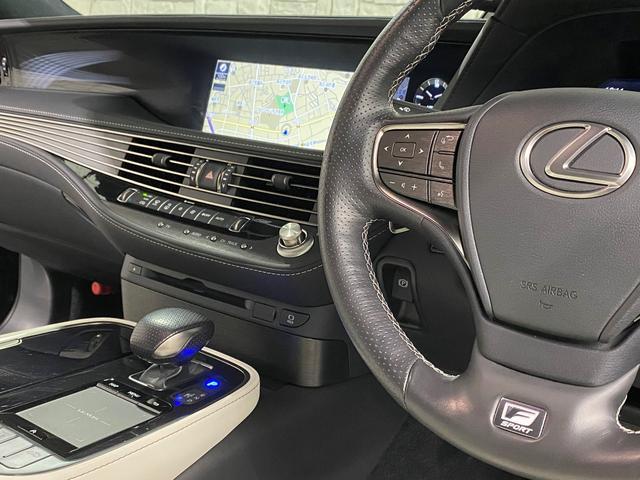 LS500 Fスポーツ レクサス新車保証継承可能 レクサスセーフティプラス 純正エンジンスターター 純正ドラレコ 本革シート 360度カメラ パワートランク AC100Vコンセント 3眼フルLEDヘッドライト ETC2.0(64枚目)