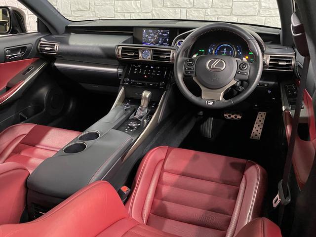 IS300h Fスポーツ 1オーナー車 禁煙車 217スターライトブラックガラスフレーク 2眼LEDヘッドライト フレアレッド本革ベンチレーター内蔵シート サンルーフ クリアランスソナー ビルトインETC2.0 バックカメラ(14枚目)