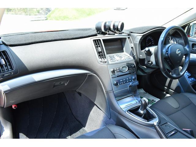 370GT タイプS 純正HDDナビ ブリッツ車高調 フジツボマフラー Defi3連追加メーター スマートキー(21枚目)