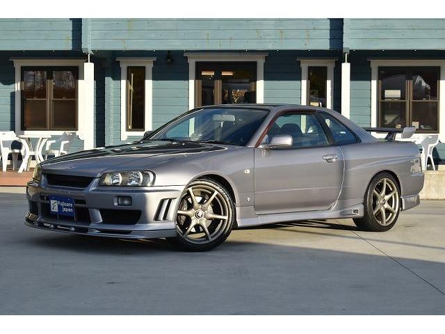 25GTターボ 純正5速マニュアル TEIN車高調 ブリッツブーストコントローラー 3連メーター ブローオフバルブ 柿本マフラー 可変マフラー GT-R用18インチAW(3枚目)