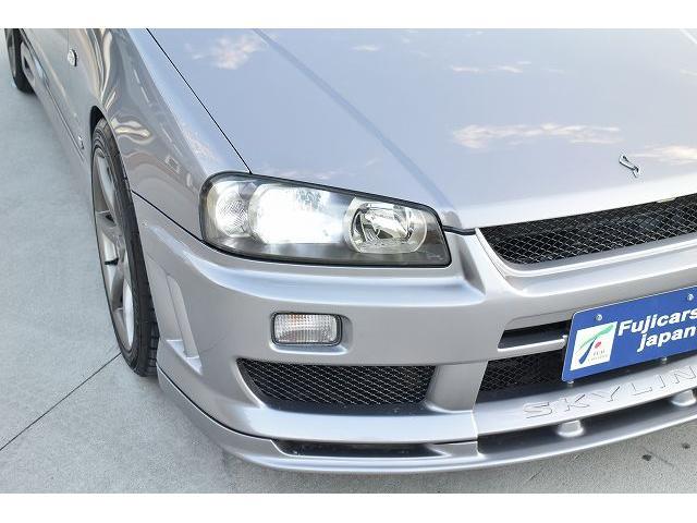 25GTターボ 純正5速マニュアル TEIN車高調 ブリッツブーストコントローラー 3連メーター ブローオフバルブ 柿本マフラー 可変マフラー GT-R用18インチAW(13枚目)
