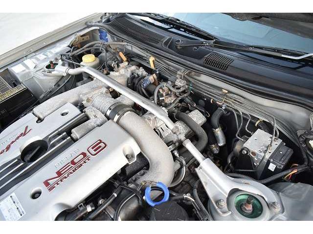 25GTターボ 純正5速マニュアル TEIN車高調 ブリッツブーストコントローラー 3連メーター ブローオフバルブ 柿本マフラー 可変マフラー GT-R用18インチAW(21枚目)