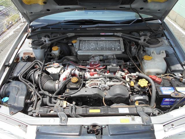 WRXタイプR STiバージョンV クーペ 5MT BBS16インチアルミ タイベル交換済み クラッチ交換済み MOMOハンドル STiショック・マフラー・タワーバー ケンウッドオーディオ ユーザー買取車(19枚目)