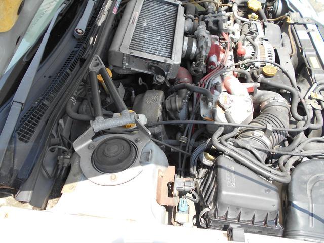 WRXタイプR STiバージョンV クーペ 5MT BBS16インチアルミ タイベル交換済み クラッチ交換済み MOMOハンドル STiショック・マフラー・タワーバー ケンウッドオーディオ ユーザー買取車(20枚目)