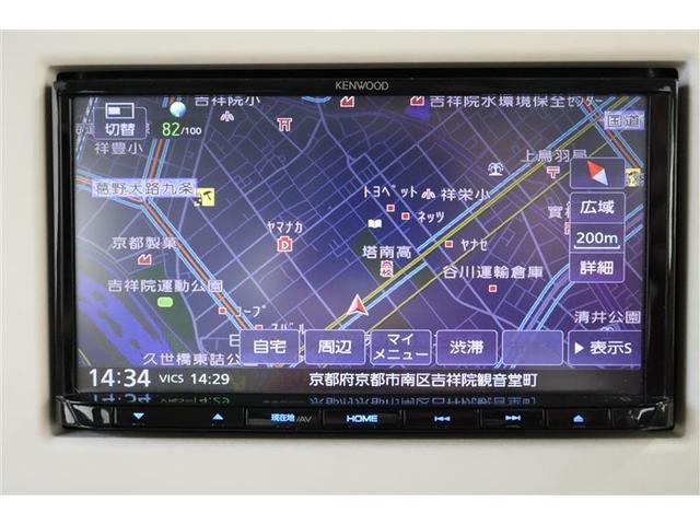 スズキ純正ケンウッド製7インチSDナビ。CD・DVD・ワンセグTV対応です。ハンドル操作に連動してガイドラインが変化するバックカメラ搭載です。