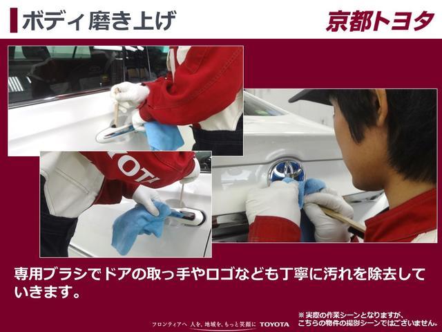 【ボディ磨き上げ】専用ブラシでドアの取っ手やロゴなども丁寧に汚れを除去していきます。