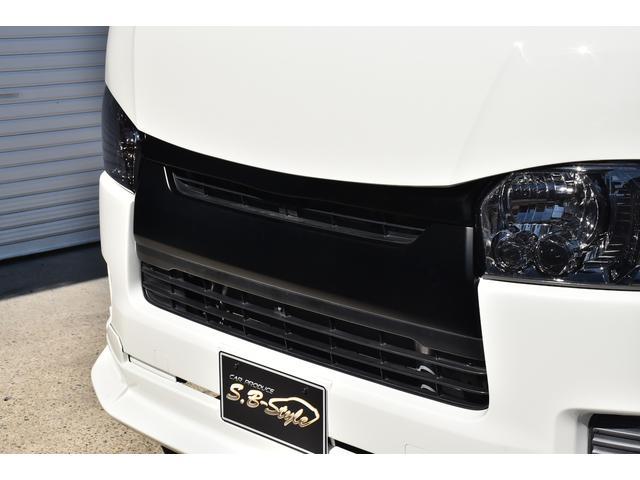 ロングDX オリジナルカスタムコンプリートVer.1 6人乗り 両スラ ベッドキット 木目調インテリアパネル&コンビハンドル 純正ナビ ETC スモークテール バッドフェイス ブラックエンブレム ローダウン(25枚目)