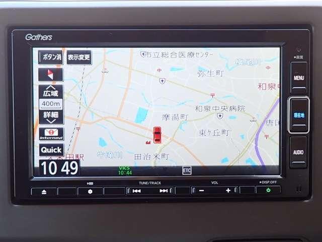 Lホンダセンシング 純正メモリーナビ フルセグTV DVD再生 Bluetooth対応 リヤカメラ ETC オートライト クルーズコントロール 盗難防止システム スマートキー(3枚目)