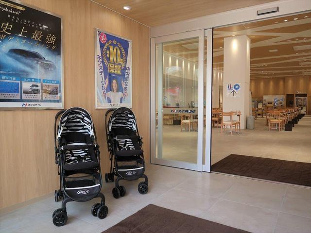 ベビーカーや授乳室、おむつ交換スペースもご用意しております。ご不明点等ございましたら、スタッフまで♪