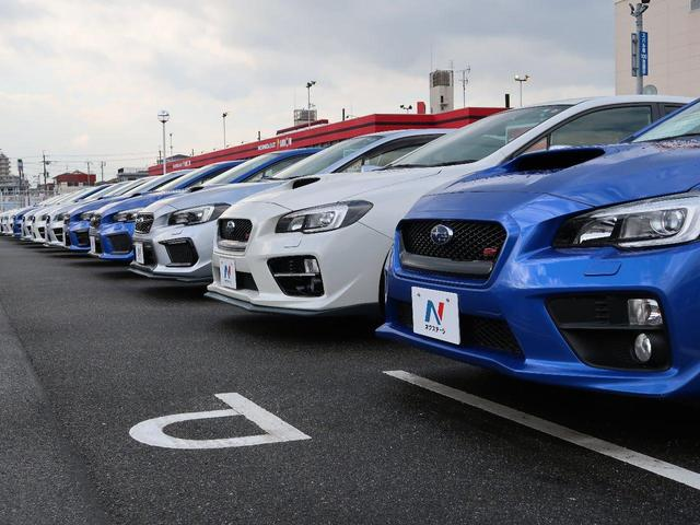 インプレッサSTIなどの専門車種はもちろん!レーヴォーグやインプレッサスポーツなどの人気車種も多く取り扱いがございます!!