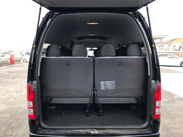スーパーロングGLターボ パワースライドドア バックカメラ ビルドインETC SDフルセグナビ 14人乗り 禁煙車 ワンオーナー フルフラット ディーゼルエンジン タコメーター LEDヘッドランプ 100V電源 スマートキー(33枚目)