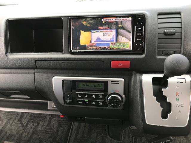 スーパーロングGLターボ パワースライドドア バックカメラ ビルドインETC SDフルセグナビ 14人乗り 禁煙車 ワンオーナー フルフラット ディーゼルエンジン タコメーター LEDヘッドランプ 100V電源 スマートキー(39枚目)