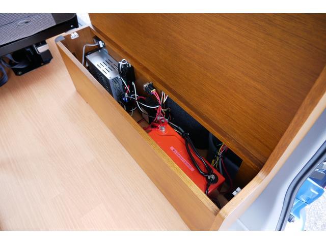 キャンピング仕様 トイファクトリー エコロ FFヒーター シングルサブバッテリー 500Wインバーター 走行充電 コンバーター パナソニックフローティングナビ フルセグ Bluetooth(7枚目)