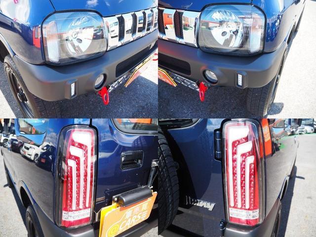XG 新品2.5インチリフトアップ/ラテラルロッド/延長ブレーキホース/スタビ延長ブロック/LEDテール/マフラー/フロントグリル/スキッドプレート/牽引フック/革調シートカバー 艶消ブラック前後バンパー(9枚目)