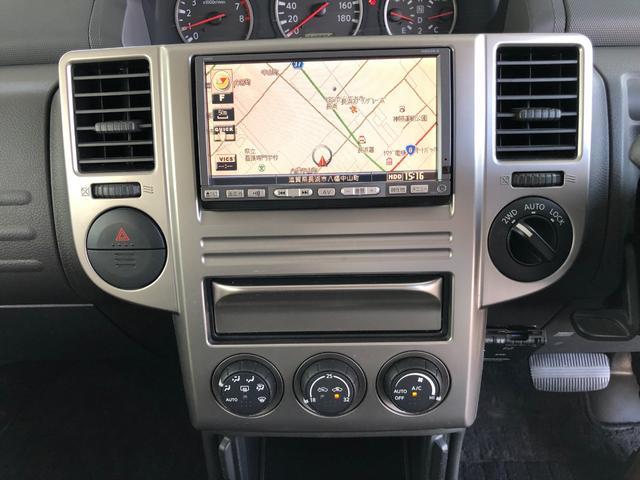 X ワンオーナー・4WD・革シート・シートヒーター・社外HDDナビ・DVD再生・純正17インチAW・ETC・革巻きハンドル・電格ミラー・フロントフォグライト・ヘッドライトレベライザー・純正フロアマット(19枚目)