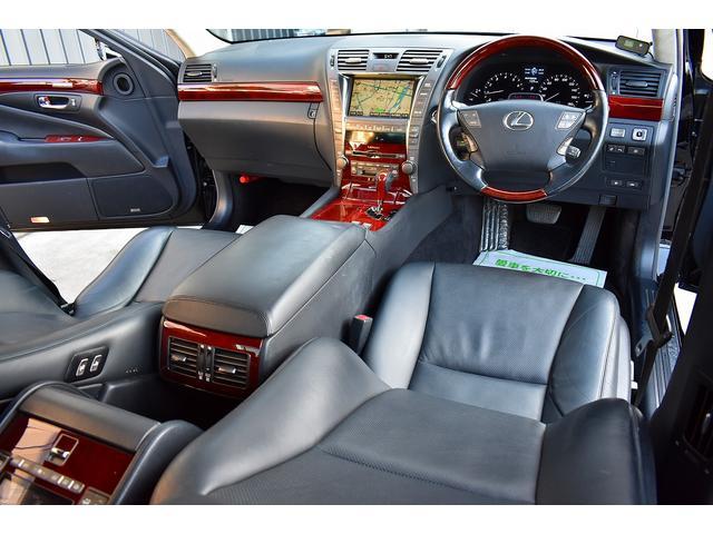 レクサス LS LS460L 後席セパレート 黒革 サンルーフ 後席モニター