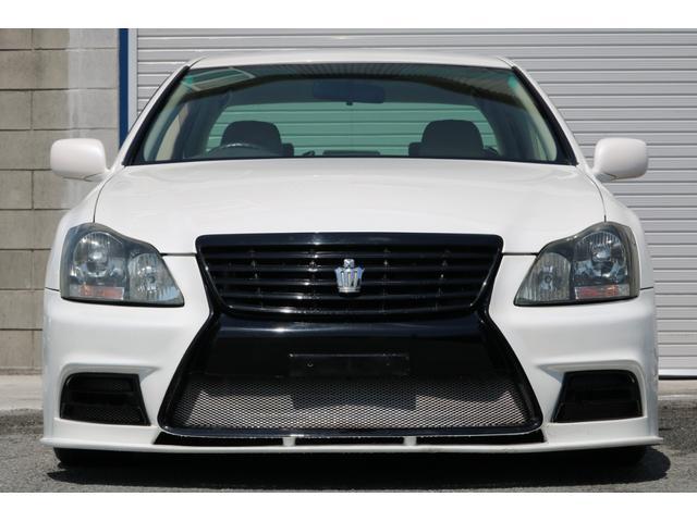 ロイヤルサルーン スピンドルエアロ RS-R車高調 社外アルミホイール HIDヘッドライト ETC レザー調シートカバー CD スマートキー パワーシート エアバック ABS 電動格納ミラー(8枚目)