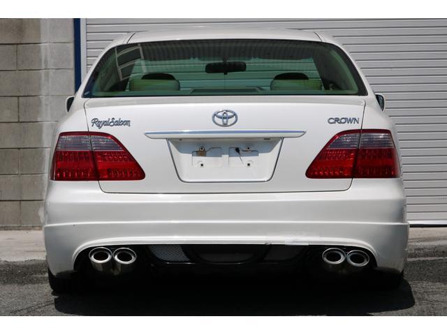ロイヤルサルーン スピンドルエアロ RS-R車高調 社外アルミホイール HIDヘッドライト ETC レザー調シートカバー CD スマートキー パワーシート エアバック ABS 電動格納ミラー(9枚目)