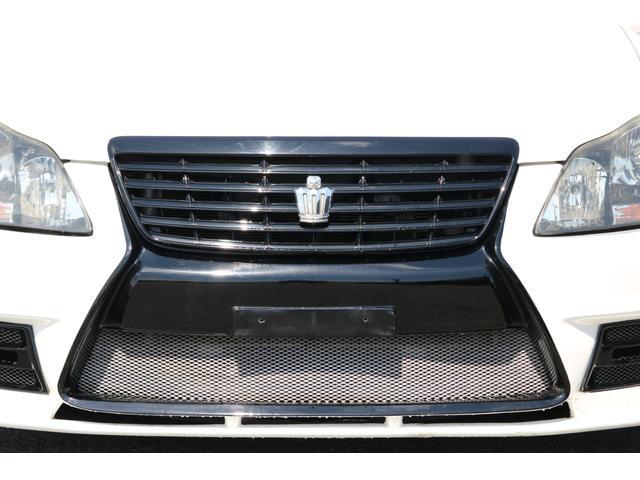 ロイヤルサルーン スピンドルエアロ RS-R車高調 社外アルミホイール HIDヘッドライト ETC レザー調シートカバー CD スマートキー パワーシート エアバック ABS 電動格納ミラー(12枚目)