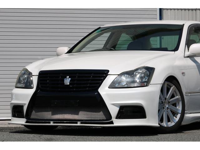 ロイヤルサルーン スピンドルエアロ RS-R車高調 社外アルミホイール HIDヘッドライト ETC レザー調シートカバー CD スマートキー パワーシート エアバック ABS 電動格納ミラー(15枚目)